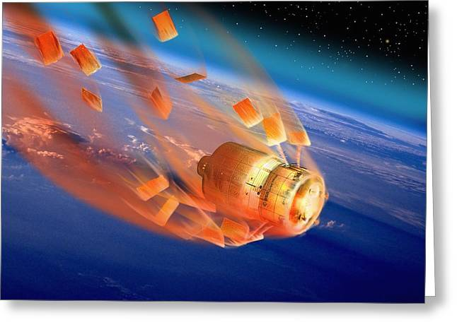 Automated Greeting Cards - Atv Re-entry, Artwork Greeting Card by David Ducros