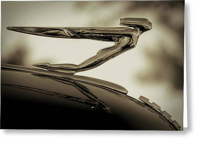 Vintage Hood Ornaments Digital Art Greeting Cards - Auburn Angel Greeting Card by Douglas Pittman