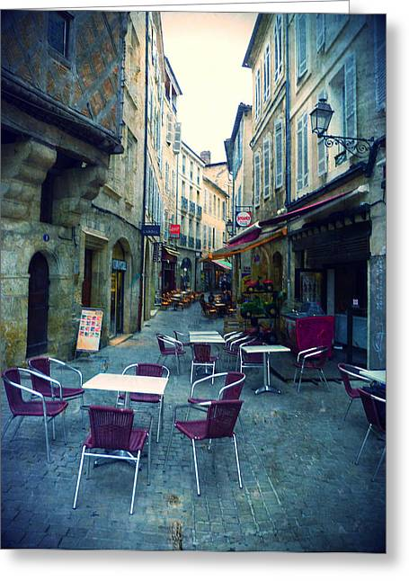 """south West France"" Greeting Cards - Auch- Rue Dessoles Greeting Card by Sandrine Pelissier"
