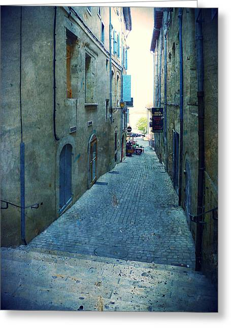 Best Sellers -  - South West France Greeting Cards - Auch-Small street Greeting Card by Sandrine Pelissier