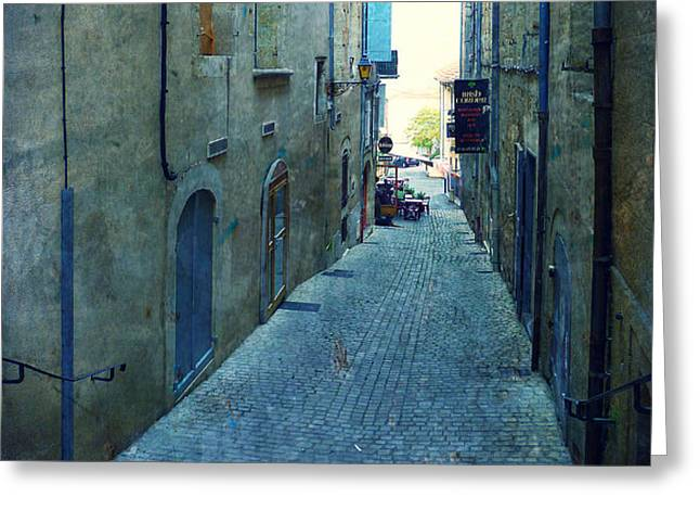 Auch-Small street Greeting Card by Sandrine Pelissier