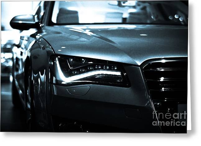 Art Of Muscle Greeting Cards - Audi A8 Greeting Card by Syed Aqueel