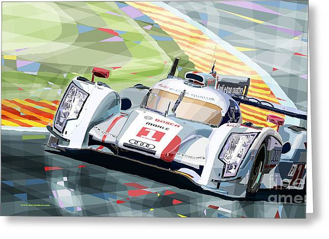 Racing Car Greeting Cards - AUDI R18 e-tron quattro Greeting Card by Yuriy  Shevchuk