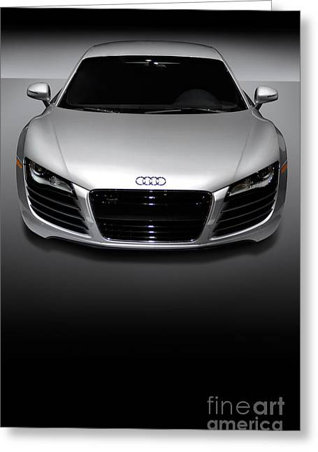 Cut-outs Greeting Cards - Audi R8 Sports Car Greeting Card by Oleksiy Maksymenko