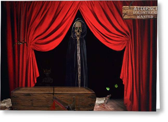 Tricks Mixed Media Greeting Cards - Audience Volunteers Wanted Greeting Card by David Dehner