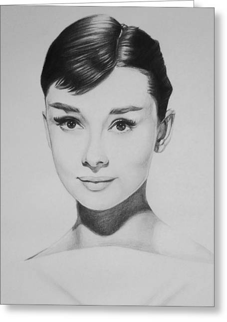 Audrey Hepburn Greeting Card by Steve Hunter