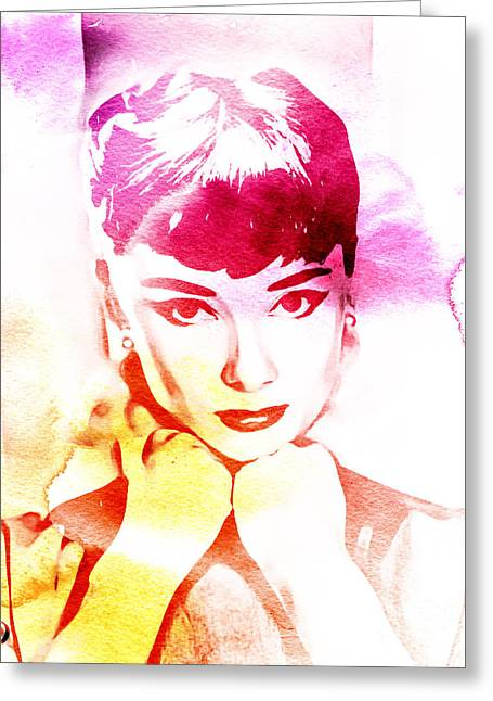 Ruston Greeting Cards - Audrey Hepburn Greeting Card by The DigArtisT