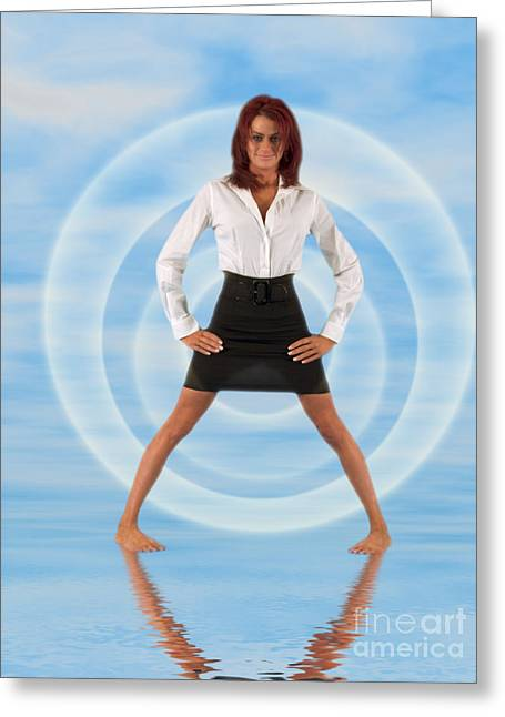 Business Woman Greeting Cards - Audrey Michelle 2030101 Greeting Card by Rolf Bertram