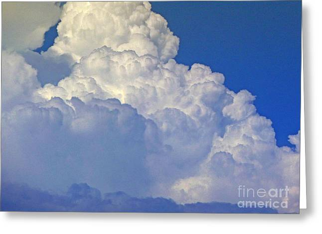 Monsoon Clouds Greeting Cards - August Monsoon Clouds Greeting Card by Methune Hively