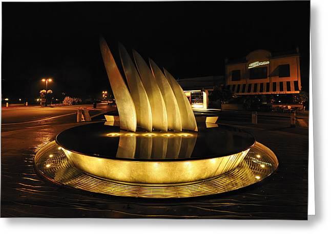 Tiburon Greeting Cards - August Nights Sail Greeting Card by Richard Leon