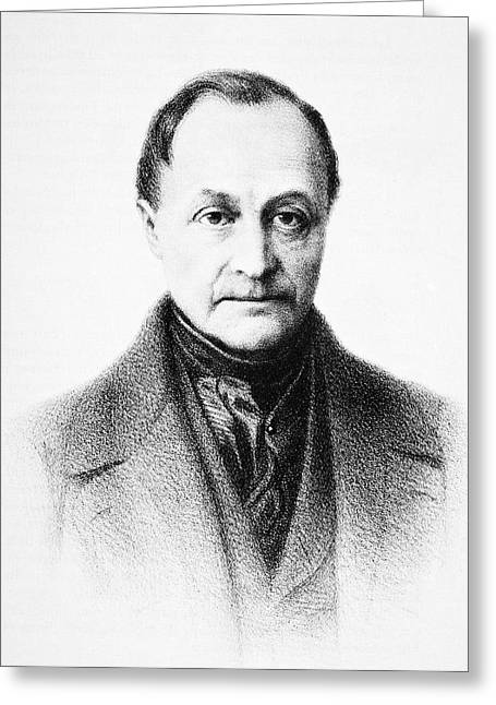 Sociologists Greeting Cards - Auguste Comte, French Philosopher Greeting Card by
