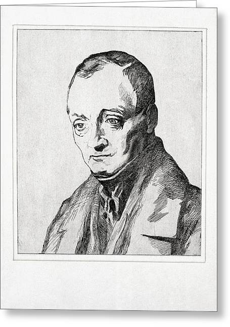 Sociology Photographs Greeting Cards - Auguste Comte, French Philosopher Greeting Card by Humanities & Social Sciences Librarynew York Public Library