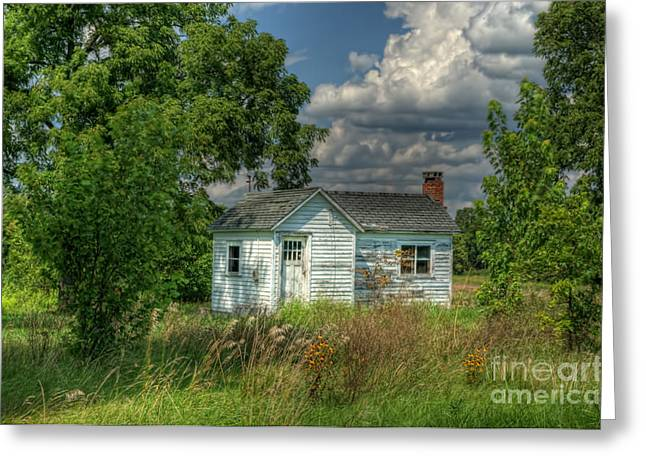 Abandoned Farm House Greeting Cards - Aunt Lizzys House Greeting Card by Pamela Baker