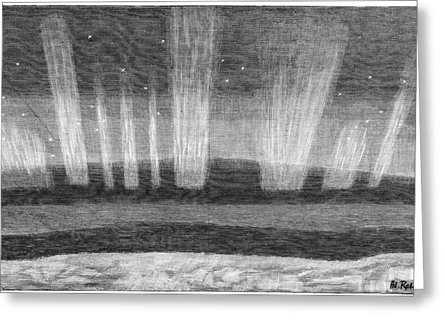 Aurora Borealis, 19th Century Greeting Card by