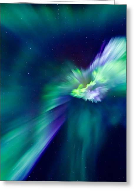 Photographing Aurora Greeting Cards - Aurora Corona Greeting Card by Frank Olsen
