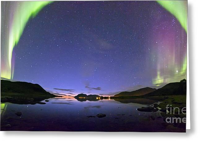 Aurora Panorama Greeting Card by Frank Olsen