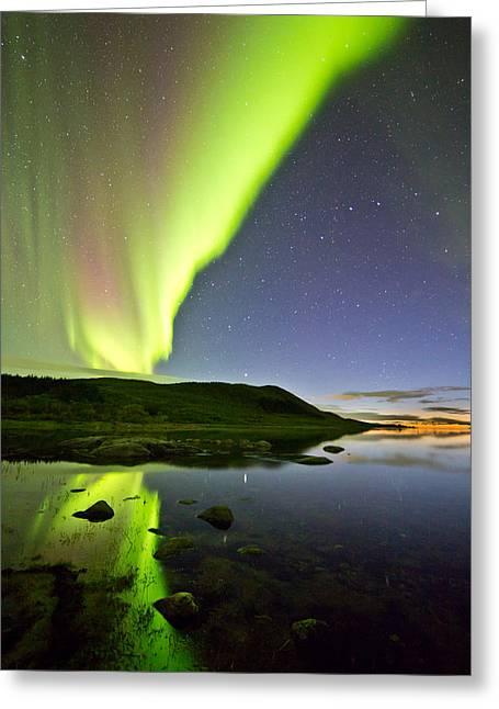 Aurora Raising Greeting Card by Frank Olsen