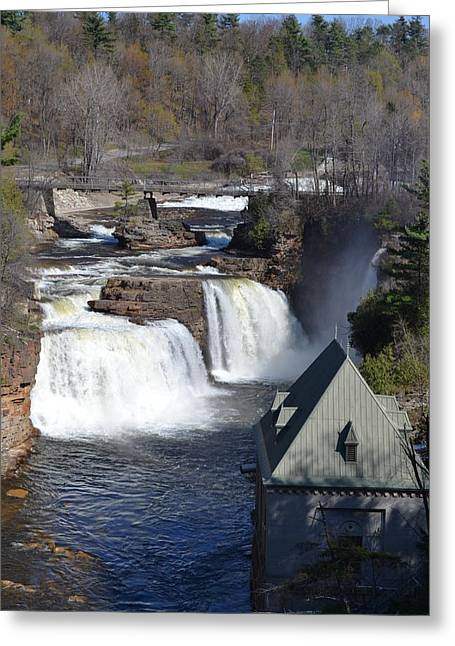 Port Kent Greeting Cards - Ausable Chasm Greeting Card by Tiffany Ball-Zerges