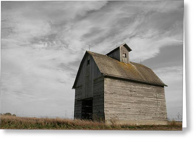 Old Barns Greeting Cards - Austerity Greeting Card by Dylan Punke