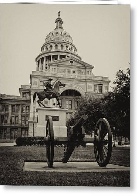 Capitol Of Austin Greeting Cards - Austin Capitol Greeting Card by Lisa  Spencer