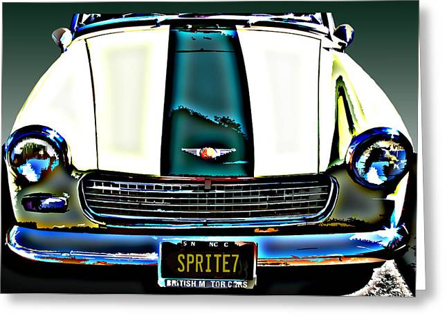 Sheats Greeting Cards - Austin Healey Sprite Greeting Card by Samuel Sheats