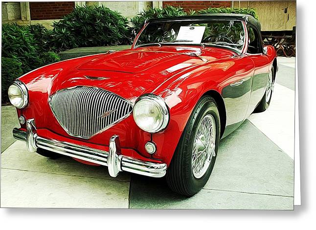 Austin Healy Greeting Card by Cathie Tyler