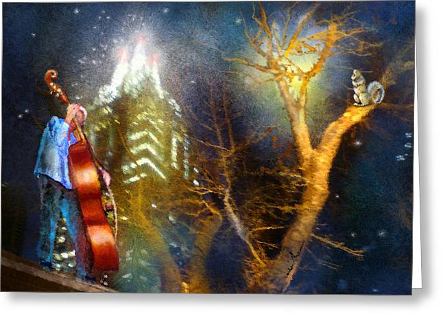 Townscape Digital Art Greeting Cards - Austin Nights 02 Greeting Card by Miki De Goodaboom