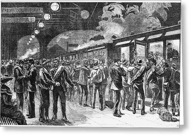 1880s Greeting Cards - Australia: Gold Rush, 1880 Greeting Card by Granger