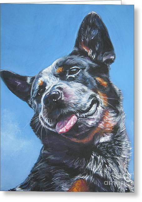 Heeler Greeting Cards - Australian Cattle Dog 2 Greeting Card by Lee Ann Shepard