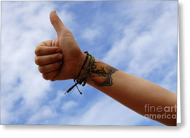 Thumbs Up Greeting Cards - Australian Sign Language 2 Greeting Card by Bob Christopher