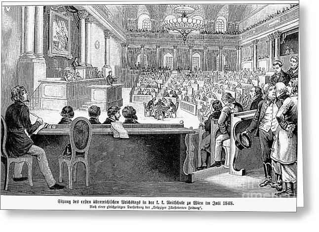Constituent Greeting Cards - Austrian Assembly, 1848 Greeting Card by Granger