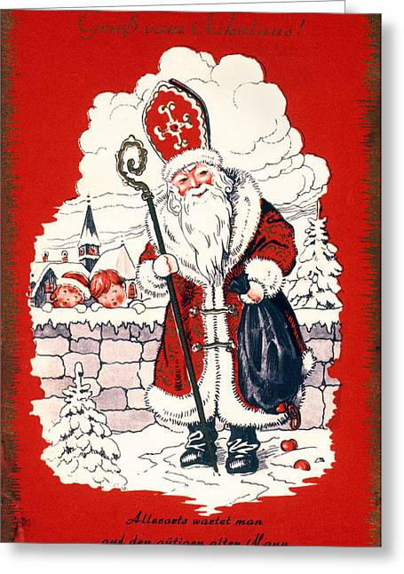 Best Sellers -  - Nicholas Greeting Cards - Austrian Christmas Card Greeting Card by Granger
