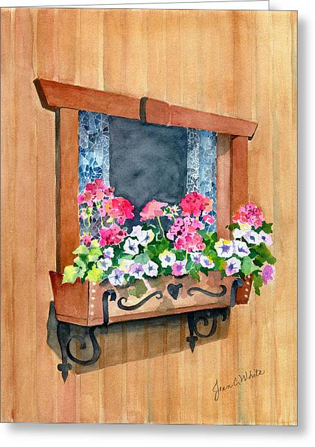 Austrian Window Greeting Card by Jean White