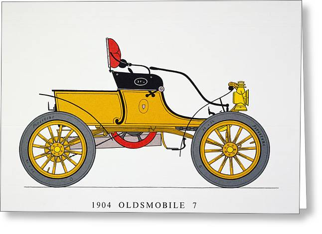 American Automobiles Greeting Cards - Auto: Oldsmobile, 1904 Greeting Card by Granger