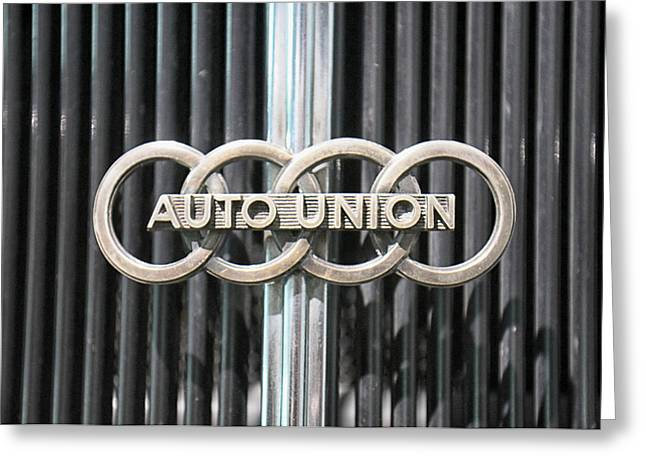 Car Grill Greeting Cards - Auto Union Greeting Card by Lauri Novak