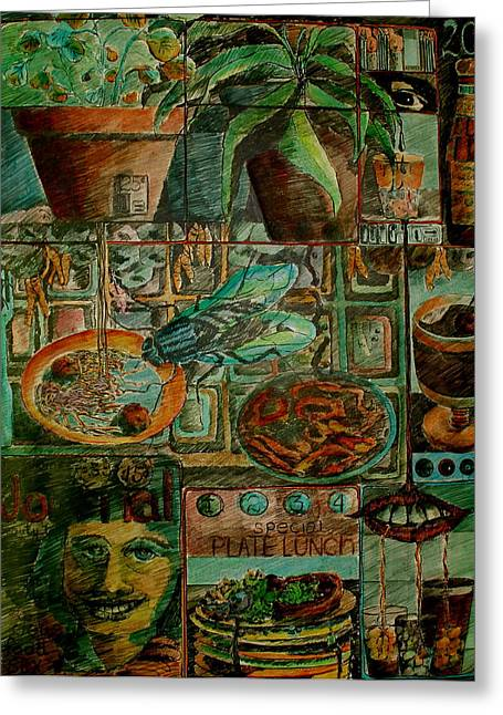 Food Pastels Greeting Cards - Automat Greeting Card by Betty OHare