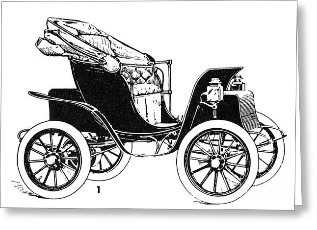 1907 Greeting Cards - Automobile, 1907 Greeting Card by Granger
