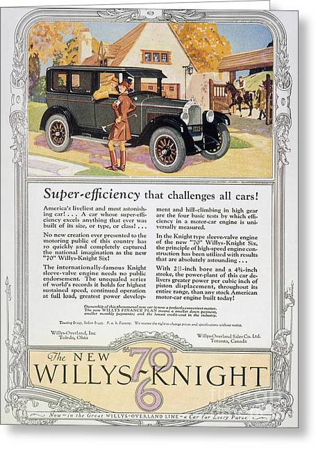American Automobiles Greeting Cards - Automobile Ad, 1926 Greeting Card by Granger