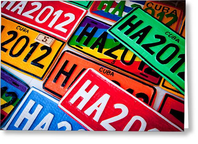 Multiple Identities Greeting Cards - Automobile Plates Greeting Card by Stephane Thomas Durocher