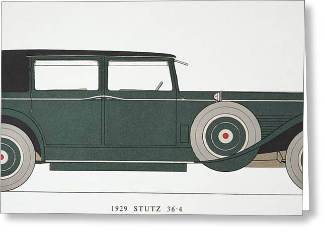 American Automobiles Greeting Cards - Automobile: Stutz, 1929 Greeting Card by Granger