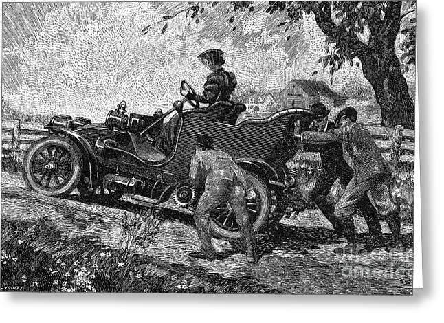American Automobiles Greeting Cards - AUTOMOBILE TRAVEL, c1905 Greeting Card by Granger