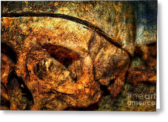 Osteology Greeting Cards - Autopsy Greeting Card by Heather Applegate