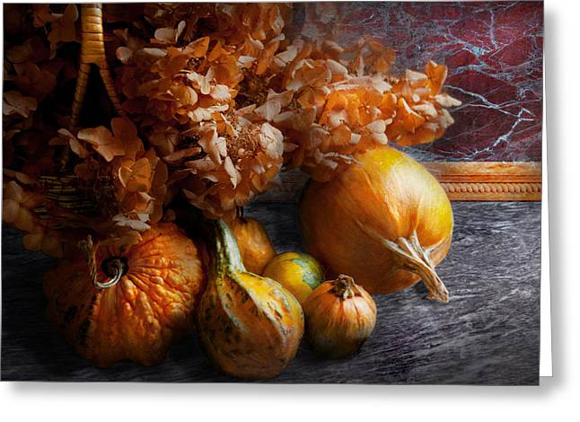 Autumn - Gourd - Still life with Gourds Greeting Card by Mike Savad