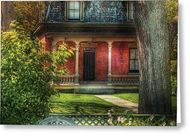 Autumn - House - The Estates Greeting Card by Mike Savad
