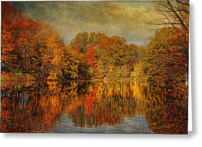 Autumn - Landscape - Tamaques Park - Autumn In Westfield Nj  Greeting Card by Mike Savad