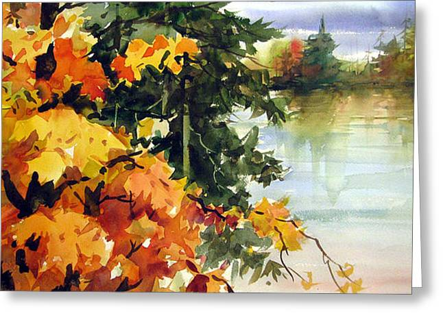 Lamdscape Greeting Cards - Autumn Ablaze  Greeting Card by Chito Gonzaga