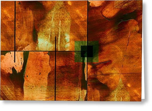 Abstract Style Greeting Cards - Autumn Abstracton Greeting Card by Ann Powell