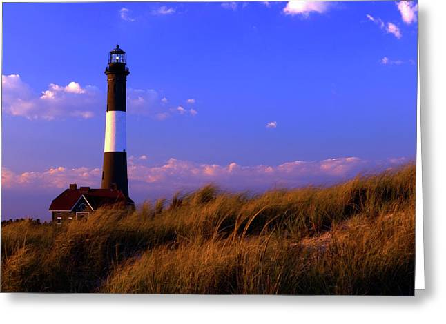 Fire Island Greeting Cards - Autumn at Fire Island Lighthouse Greeting Card by Rick Berk