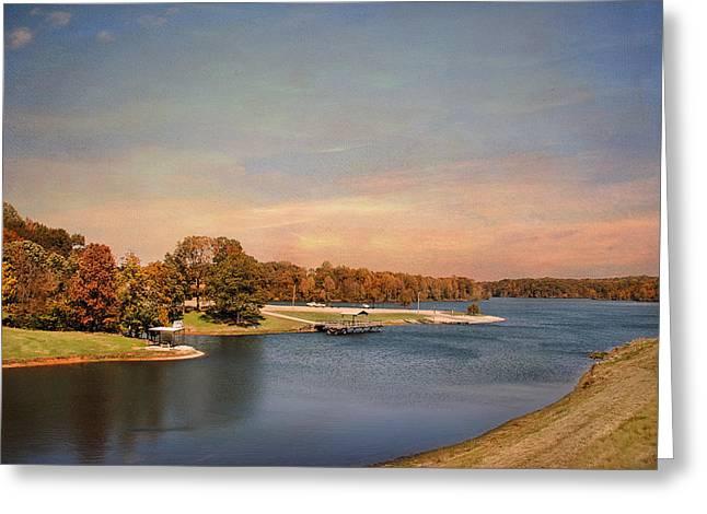 River View Greeting Cards - Autumn at Lake Graham 2 Greeting Card by Jai Johnson