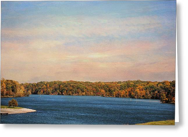 Fall River Scenes Greeting Cards - Autumn at Lake Graham Greeting Card by Jai Johnson